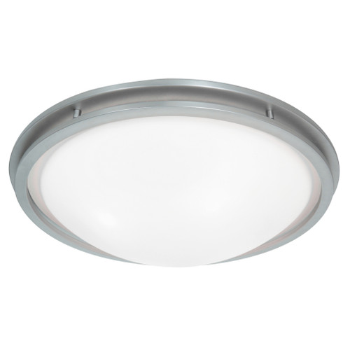 Access Lighting Aztec Collection Dimmable LED Flush Mount in Brushed Steel Finish