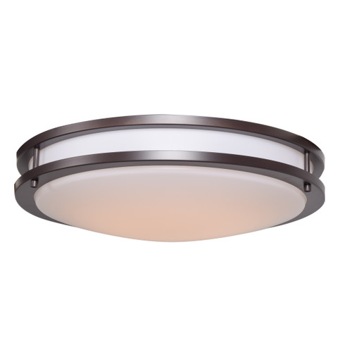 Access Lighting Solero Collection Dimmable LED Flush Mount in Bronze Finish