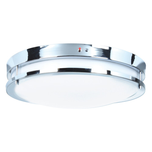 Access Lighting Solero Collection 120-277v Emergency Backup LED Flush Mount in Chrome Finish
