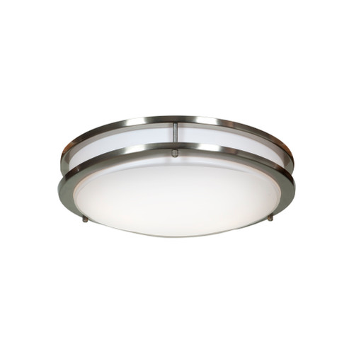 Access Lighting Solero Collection 2-Light Flush Mount in Brushed Steel Finish