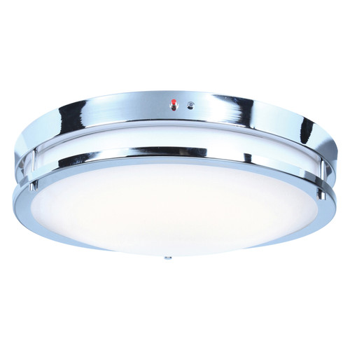 Access Lighting Solero Collection Emergency Backup LED Flush Mount in Chrome Finish