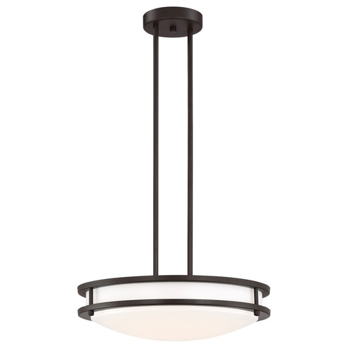 Access Lighting Solero Collection Dimmable LED Semi-Flush or Pendant in Bronze Finish