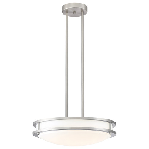 Access Lighting Solero Collection Dimmable LED Semi-Flush or Pendant in Brushed Steel Finish