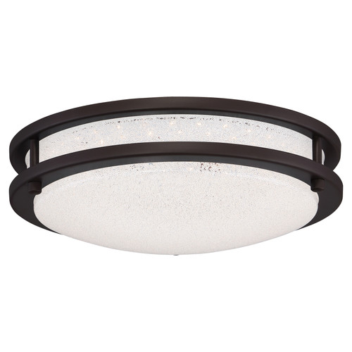 Access Lighting Sparc Collection Dimmable LED Flush Mount in Bronze Finish