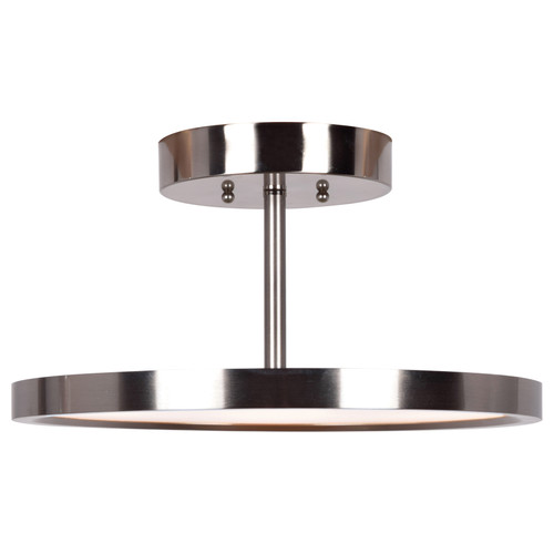 Access Lighting Sphere Collection LED Semi-Flush in Brushed Steel Finish