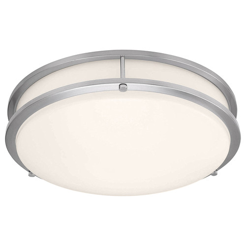 Access Lighting Solero II Collection LED Flush Mount in Brushed Steel Finish