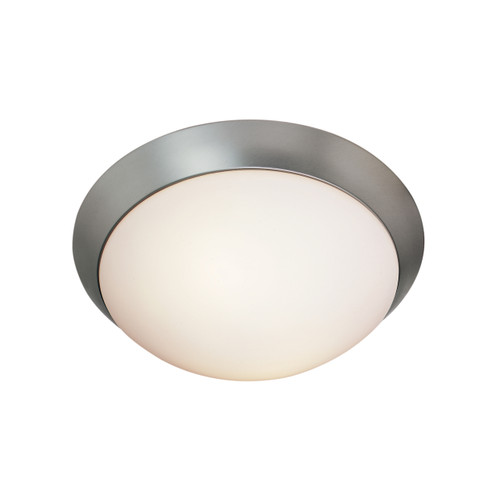 Access Lighting Cobalt Collection Dimmable LED Flush Mount in Brushed Steel Finish