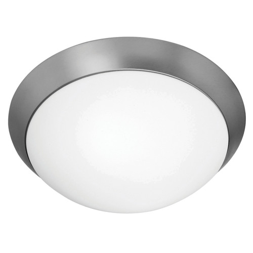 Access Lighting Cobalt Collection White Tuning Dimmable LED Flush Mount in Brushed Steel Finish