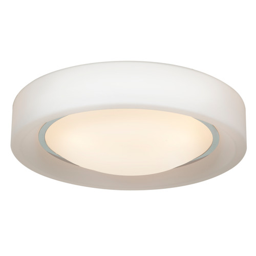 Access Lighting Splash Collection Opal Glass Flush Mount in Chrome Finish