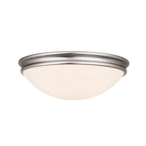 Access Lighting Atom Collection Dimmable LED Flush Mount in Brushed Steel Finish