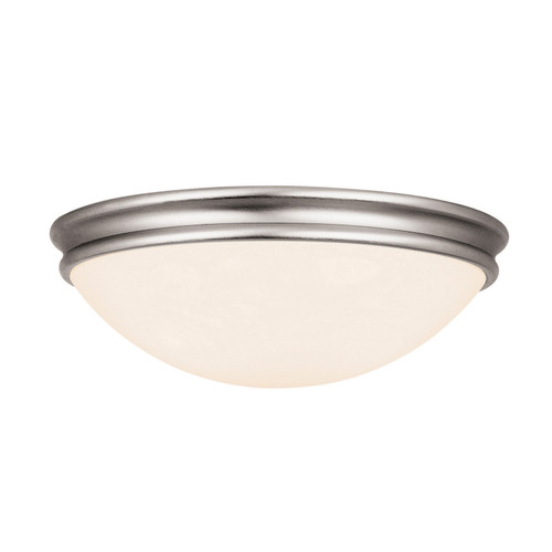 Access Lighting Atom Collection White Tuning Dimmable LED Flush Mount in Brushed Steel Finish