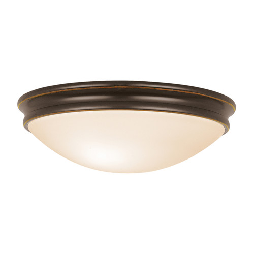 Access Lighting Atom Collection White Tuning Dimmable LED Flush Mount in Oil Rubbed Bronze Finish