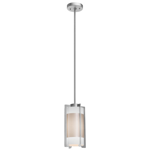 Access Lighting Iron Collection Pendant in Brushed Steel Finish
