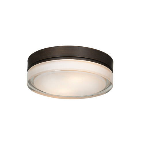 Access Lighting Solid Collection Dimmable LED Flush Mount in Bronze Finish