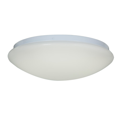 Access Lighting Catch Collection Dimmable LED Flush Mount in White Finish