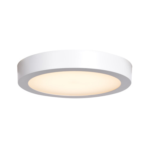 Access Lighting Ulko Exterior Collection 120-277V LED Wet Location Flush Mount in White Finish