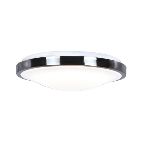 Access Lighting Lucid Collection Motions Sensor LED Flush Mount in Brushed Steel Finish