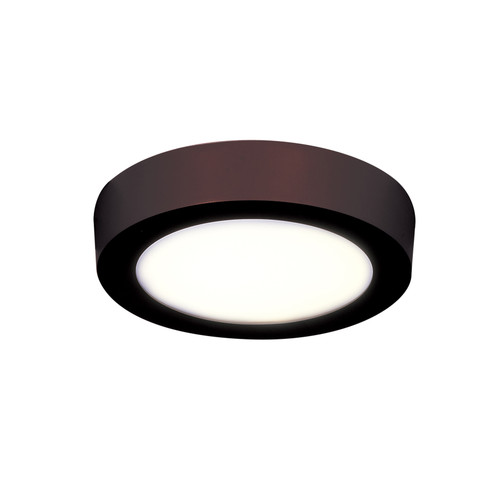 Access Lighting Strike 2.0 Collection Dimmable LED Round Flush Mount in Bronze Finish