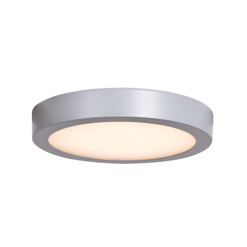 Access Lighting Strike 2.0 Collection Dimmable LED Round Flush Mount in Silver Finish