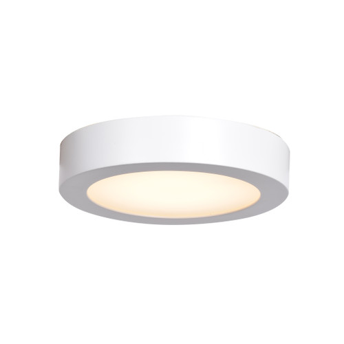 Access Lighting Strike 2.0 Collection Dimmable LED Round Flush Mount in White Finish