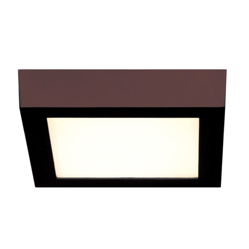 Access Lighting Strike 2.0 Collection Dimmable LED Square Flush Mount in Bronze Finish
