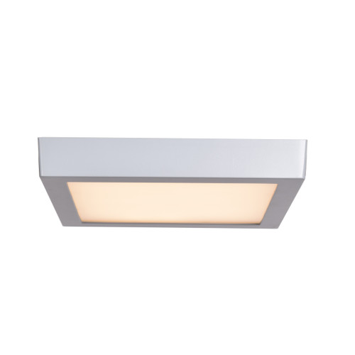 Access Lighting Strike 2.0 Collection Dimmable LED Square Flush Mount in Silver Finish