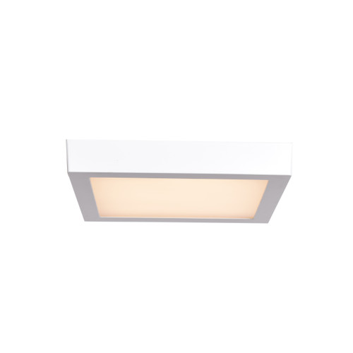 Access Lighting Strike 2.0 Collection Dimmable LED Square Flush Mount in White Finish