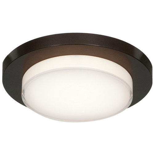 Access Lighting Link Plus Collection Dimmable LED Flush Mount in Bronze Finish
