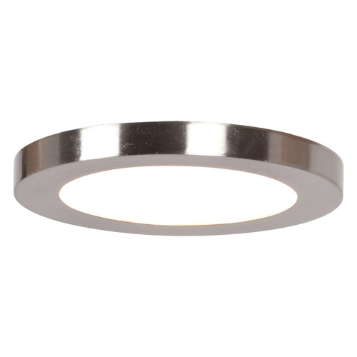 Access Lighting Disc Collection LED Round Flush Mount in Brushed Steel Finish