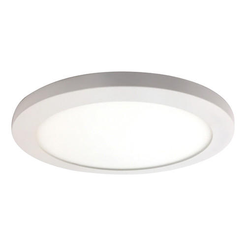 Access Lighting Disc Collection LED Round Flush Mount in White Finish