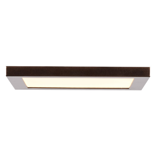 Access Lighting Boxer Collection LED Square Flush Mount in Bronze Finish