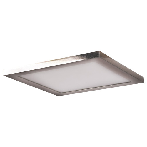 Access Lighting Boxer Collection LED Square Flush Mount in Brushed Steel Finish
