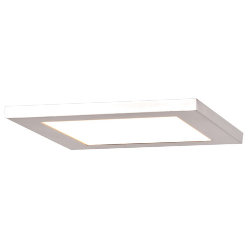 Access Lighting Boxer Collection LED Square Flush Mount in White Finish