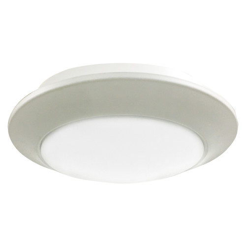Access Lighting Relic Collection Round LED Flush Mount in White Finish