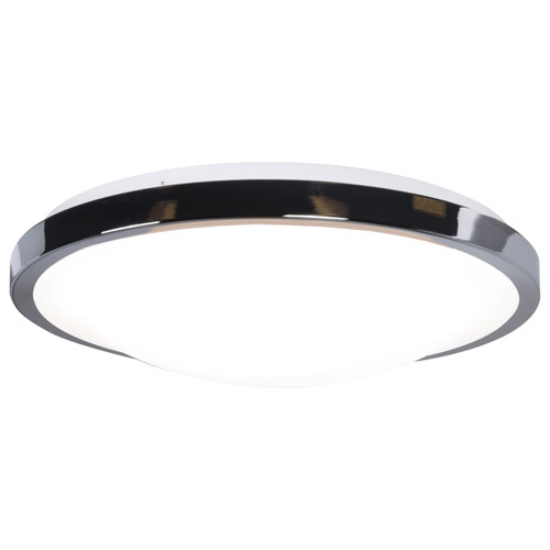 Access Lighting Lucid Collection Round LED Flush Mount in Chrome Finish