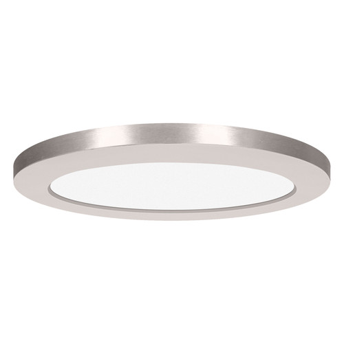 Access Lighting ModPLUS Collection 120-277v LED Round Flush Mount in Brushed Steel Finish