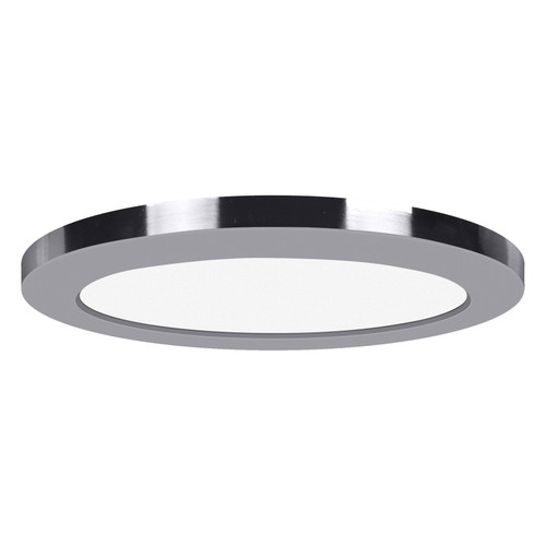 Access Lighting ModPLUS Collection 120-277v LED Round Flush Mount in Chrome Finish
