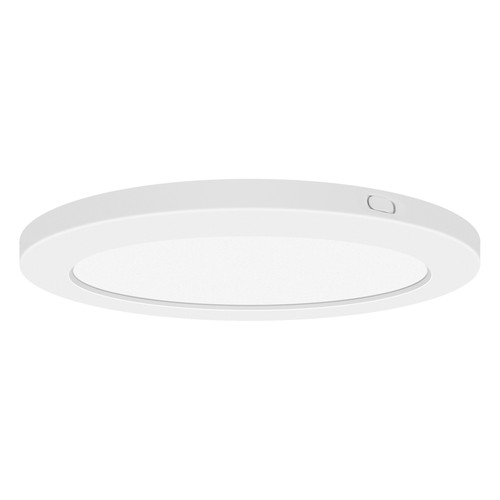 Access Lighting ModPLUS Collection 120-277v LED Round Flush Mount in White Finish