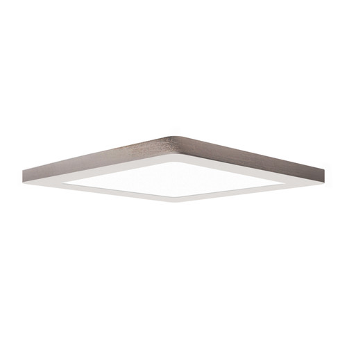 Access Lighting ModPLUS Collection 120-277v LED Square Flush Mount in Brushed Steel Finish