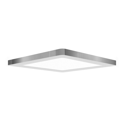 Access Lighting ModPLUS Collection 120-277v LED Square Flush Mount in Chrome Finish