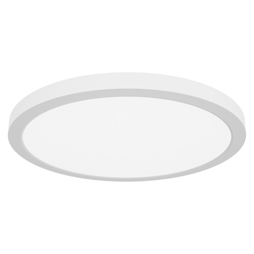 Access Lighting ModPLUS Collection (xl) LED Round Flush Mount in White Finish