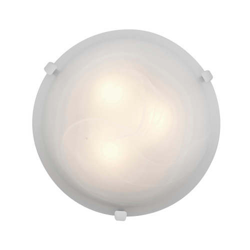 Access Lighting Mona Collection Flush Mount in White Finish