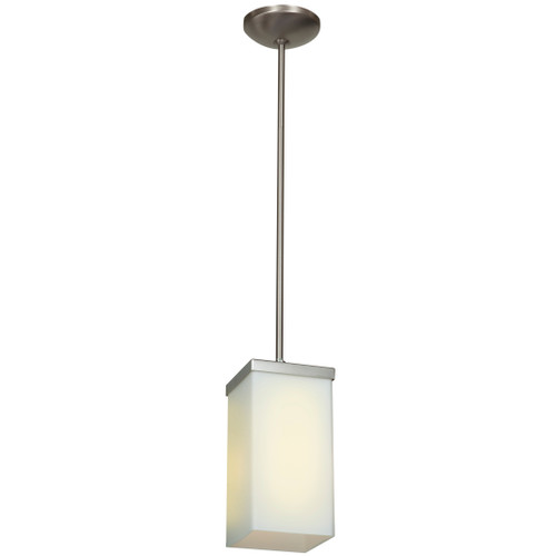 Access Lighting Basik Collection 1-Light Pendant in Brushed Steel Finish
