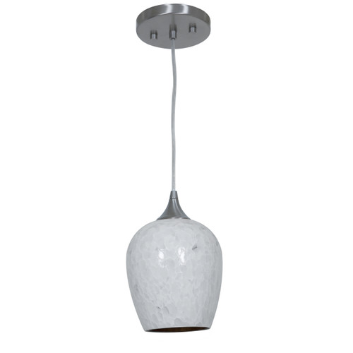 Access Lighting Christie Collection 1 Light Pendant in Brushed Steel Finish