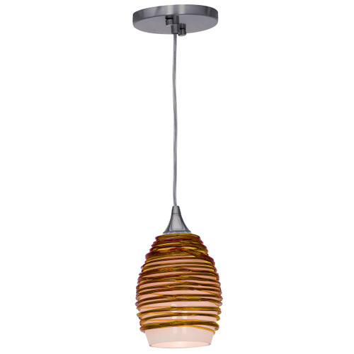 Access Lighting Adele Collection Glass Pendant in Brushed Steel Finish