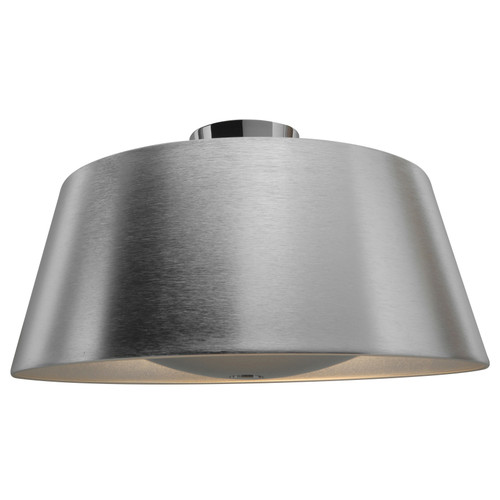 Access Lighting SoHo Collection Reflective Illumination Flush Mount in Brushed Silver Finish