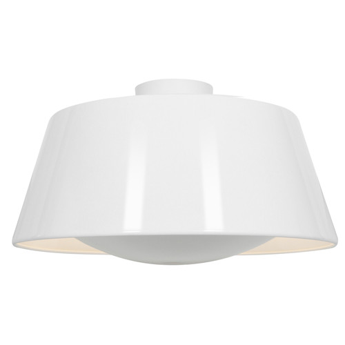 Access Lighting SoHo Collection Reflective Illumination Flush Mount in Glossy White Finish