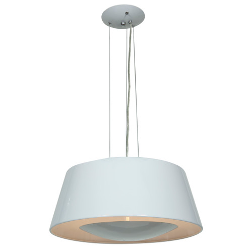 Access Lighting SoHo Collection Reflective Illumination Pendant in Glossy White Finish