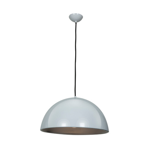 Access Lighting Astro Collection Dome Pendant in Glossy White Finish