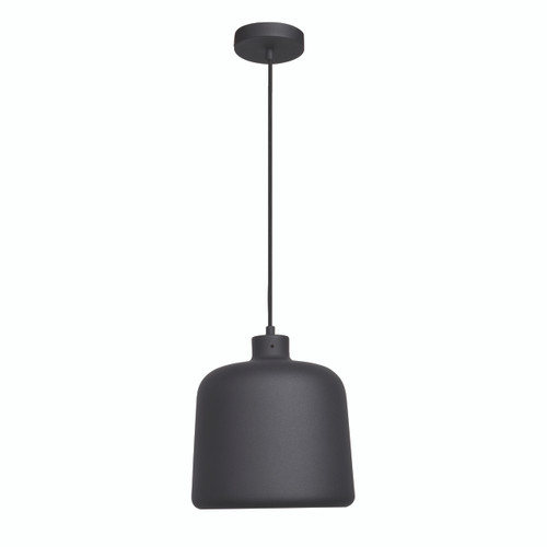 Access Lighting Nostalgia Collection 1-Light Pendant in Matte Black Finish